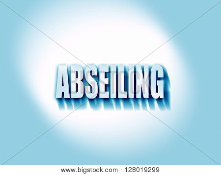 abseiling sign background