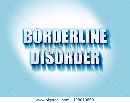 Borderline sign background