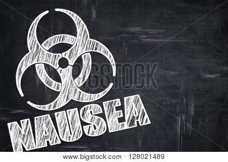 Chalkboard writing: Nausea concept background