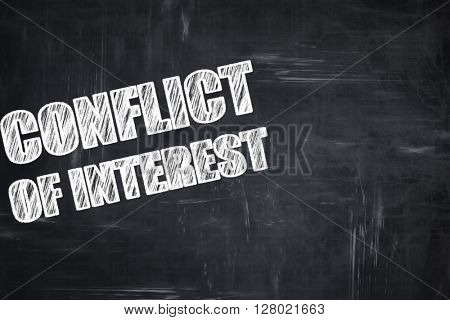 Chalkboard writing: conflict of interest