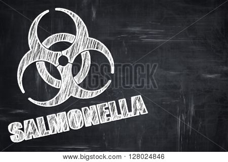 Chalkboard writing: Salmonella concept background