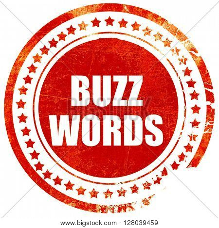 buzzword, grunge red rubber stamp on a solid white background