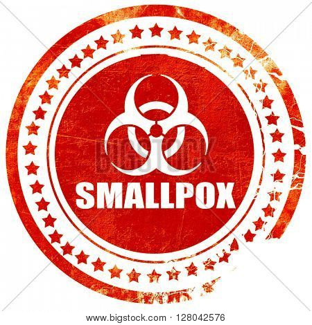 smallpox concept background, grunge red rubber stamp on a solid