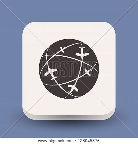 Pictograph of globe. Vector concept illustration for design. Eps 10 poster