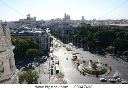 View of Madrid from the Cibele Palace