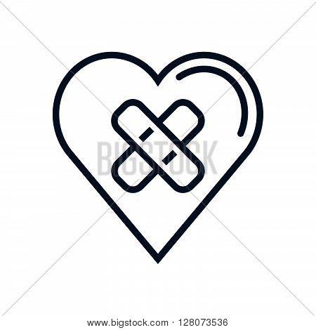 Heart Bandage, Broken Heart Icon