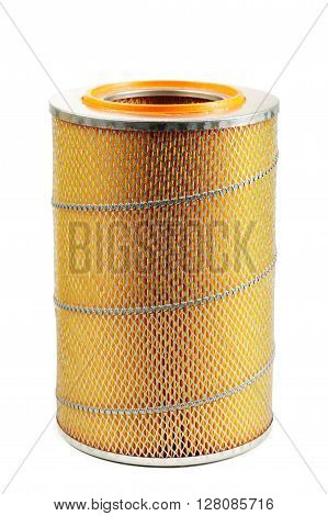 photo of car filter isolated on white background