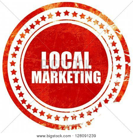local marketing, grunge red rubber stamp with rough lines and ed
