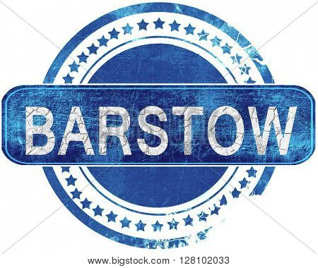 barstow grunge blue stamp. Isolated on white.