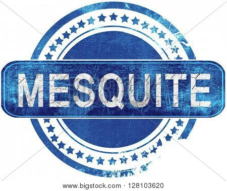 mesquite grunge blue stamp. Isolated on white.
