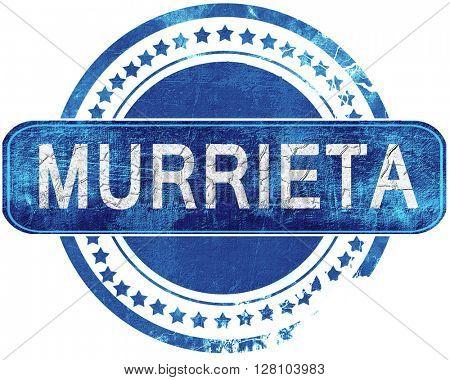 murrieta grunge blue stamp. Isolated on white.