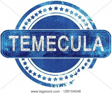 temecula grunge blue stamp. Isolated on white.