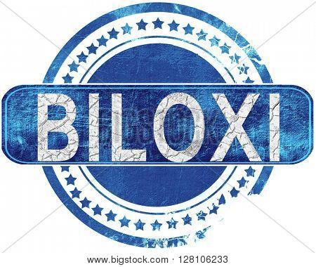 biloxi grunge blue stamp. Isolated on white.