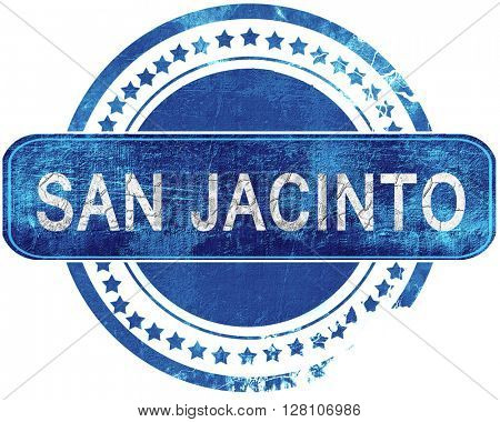 san jacinto grunge blue stamp. Isolated on white.