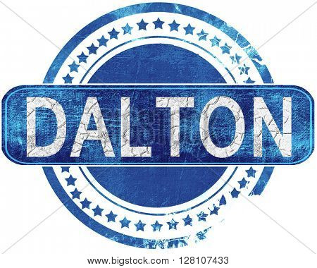 dalton grunge blue stamp. Isolated on white.