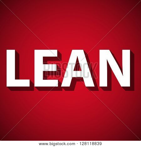 Vector illustration of abstract background with title Lean