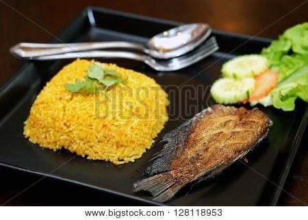 Fry Gourami Rice