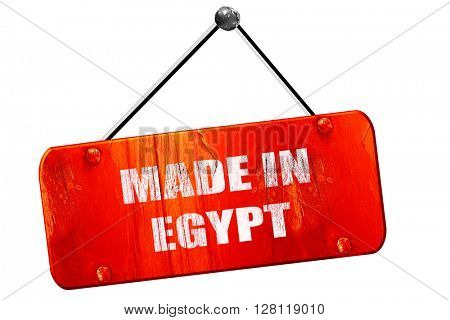 Made in egypt, 3D rendering, vintage old red sign