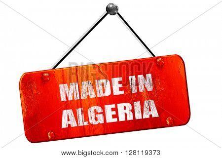 Made in algeria, 3D rendering, vintage old red sign