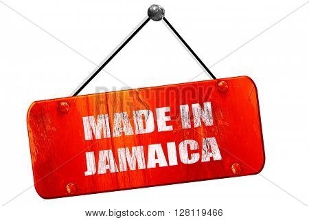 Made in jamaica, 3D rendering, vintage old red sign