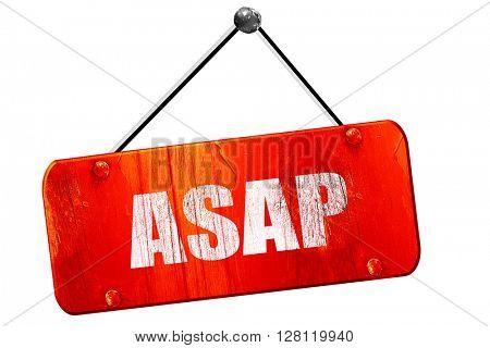 asap, 3D rendering, vintage old red sign
