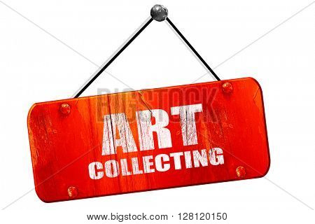 art collecting, 3D rendering, vintage old red sign