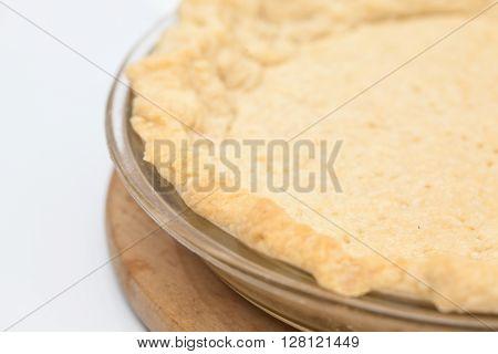 Quiche lorraine preparation : Baked quiche lorraine dough