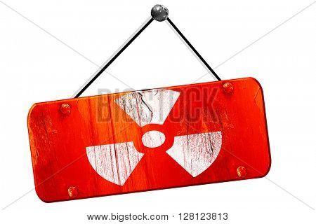 Nuclear danger , 3D rendering, vintage old red sign