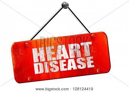 heart disease, 3D rendering, vintage old red sign