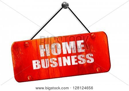 home business, 3D rendering, vintage old red sign