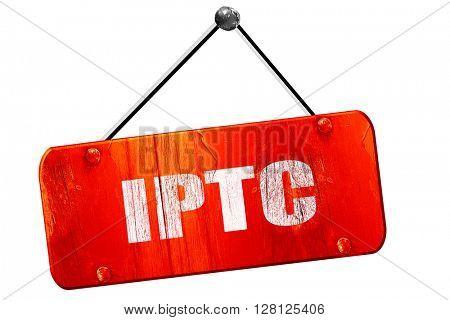 iptc, 3D rendering, vintage old red sign