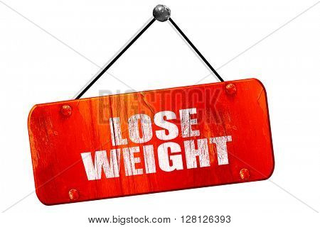 lose weight, 3D rendering, vintage old red sign