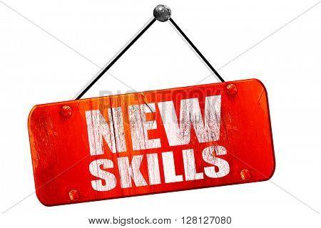 new skills, 3D rendering, vintage old red sign