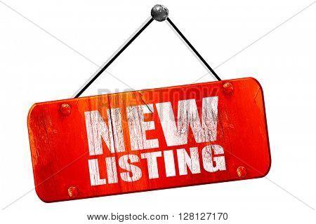 new listing, 3D rendering, vintage old red sign