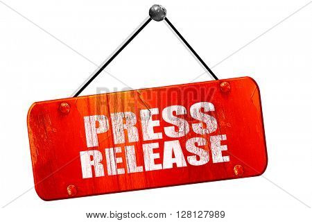 press release, 3D rendering, vintage old red sign