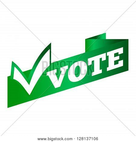 Banner of the ribbon. Voting Symbols vector design. template Elections icons. check marks.