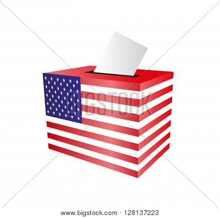 Cast your vote. ballot paper. putting voting paper in the ballot box. Elections in the USA