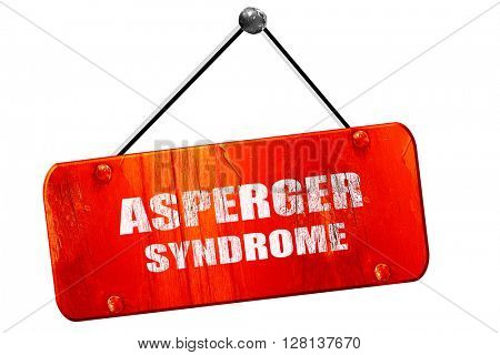 Asperger syndrome , 3D rendering, vintage old red sign