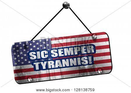 Rebel flag, 3D rendering, grunge hanging vintage sign,means