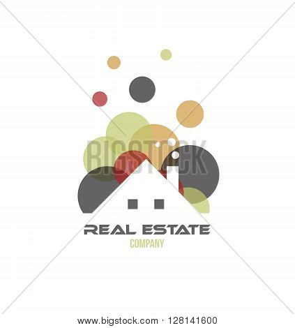 Vector company logo icon element template real estate house roof property residential
