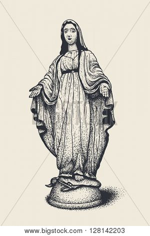 Blessed Virgin Mary, vector illustration