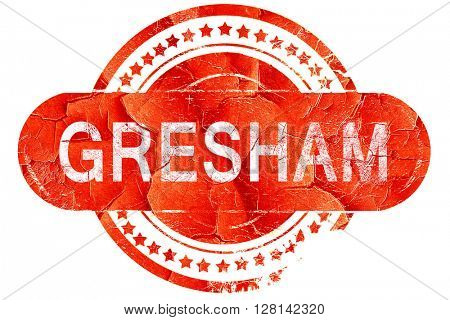 gresham, vintage old stamp with rough lines and edges