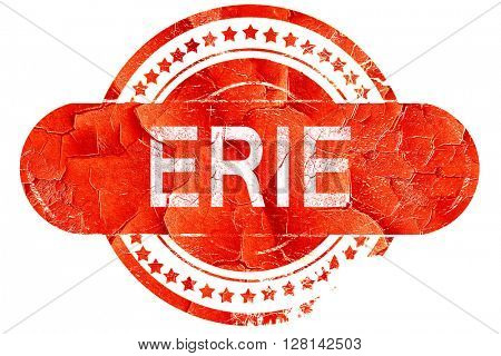 erie, vintage old stamp with rough lines and edges