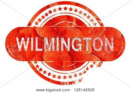wilmington, vintage old stamp with rough lines and edges
