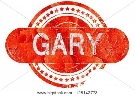 gary, vintage old stamp with rough lines and edges