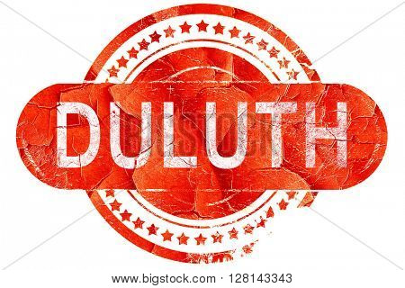 duluth, vintage old stamp with rough lines and edges