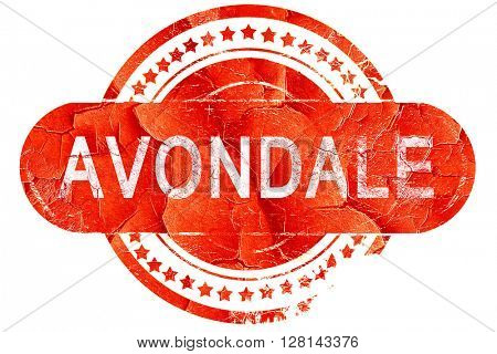 avondale, vintage old stamp with rough lines and edges