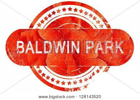 baldwin park, vintage old stamp with rough lines and edges