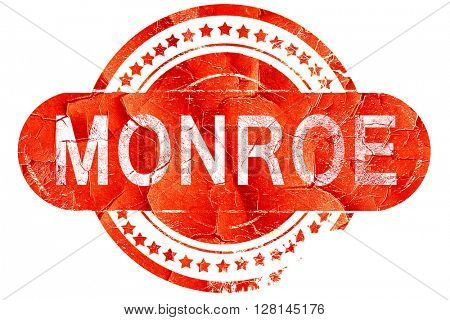 monroe, vintage old stamp with rough lines and edges