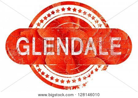 glendale, vintage old stamp with rough lines and edges